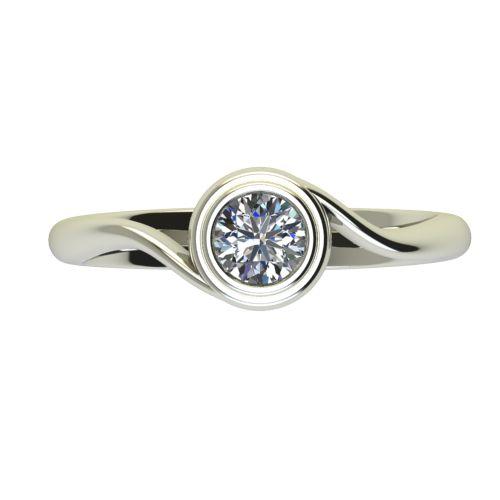 Годежен Пръстен бяло злато с диамант Accent 0,40 ct. 2650 a