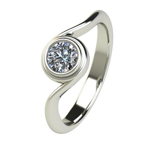 Годежен Пръстен бяло злато с диамант Accent 0,40 ct. 2650
