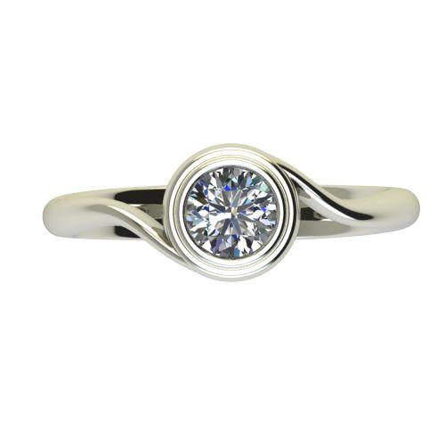 Годежен Пръстен бяло злато с диамант Accent 0,50 ct. 2649 a