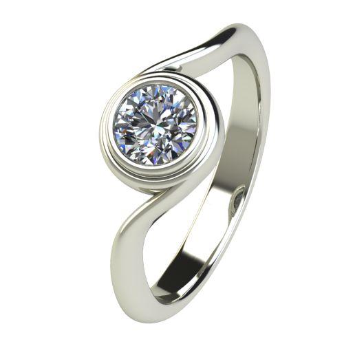 Годежен Пръстен бяло злато с диамант Accent 0,50 ct. 2649