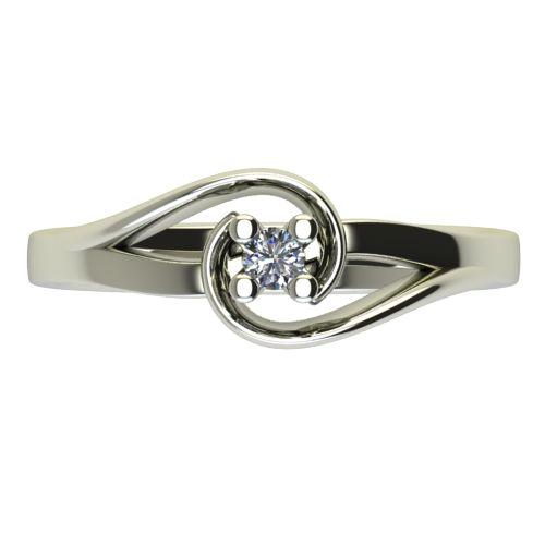 Годежен Пръстен бяло злато с диамант Airs 0,04 ct. 2652 a