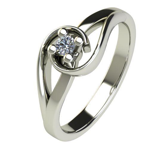 Годежен Пръстен бяло злато с диамант Airs 0,04 ct. 2652