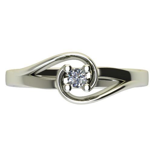 Годежен Пръстен бяло злато с диамант Airs 0,07 ct. 2653 a