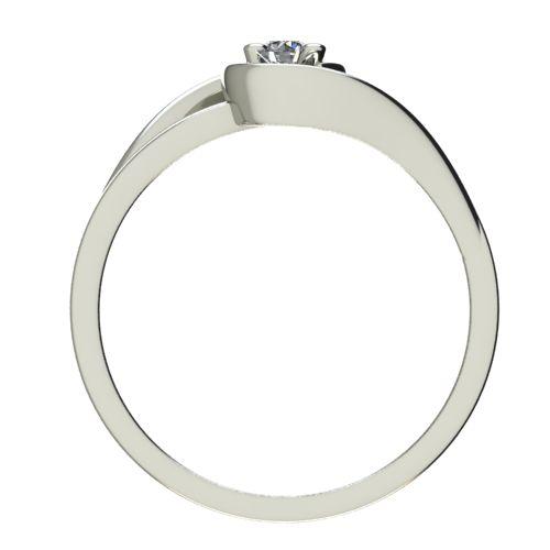 Годежен Пръстен бяло злато с диамант Airs 0,07 ct. 2653 b