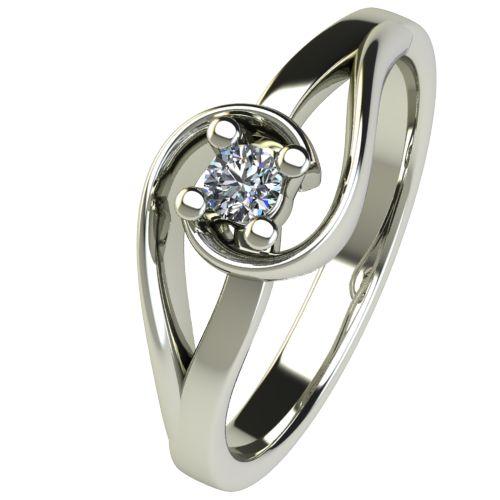 Годежен Пръстен бяло злато с диамант Airs 0,07 ct. 2653