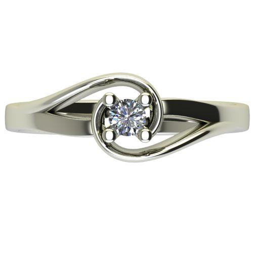 Годежен Пръстен бяло злато с диамант Airs 0,12 ct. 2654 a