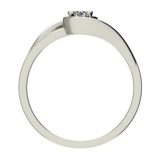 Годежен Пръстен бяло злато с диамант Airs 0,12 ct. 2654 b