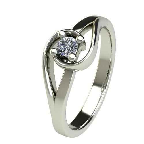 Годежен Пръстен бяло злато с диамант Airs 0,12 ct. 2654