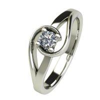 Годежен Пръстен бяло злато с диамант Airs 0,17 ct. 2655