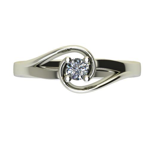 Годежен Пръстен бяло злато с диамант Airs 0,17 ct. 2655 a