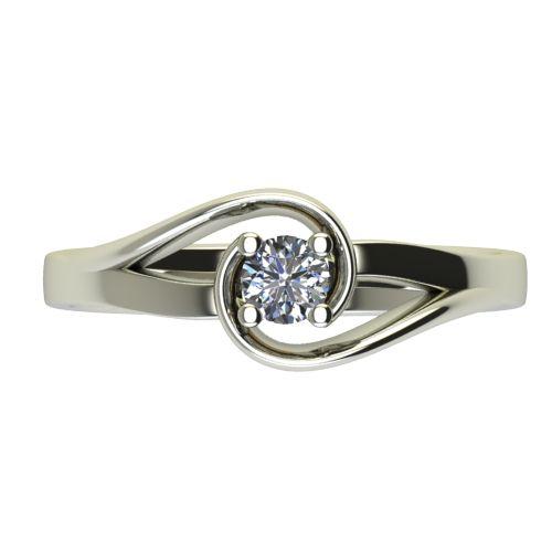 Годежен Пръстен бяло злато с диамант Airs 0,25 ct. 2656 a