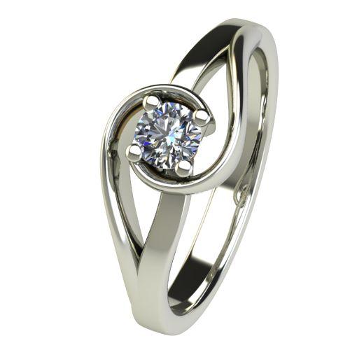 Годежен Пръстен бяло злато с диамант Airs 0,25 ct. 2656