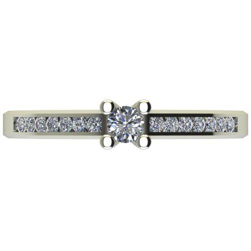 Годежен Пръстен бяло злато с диамант Decor 0,26 ct. 2640 a