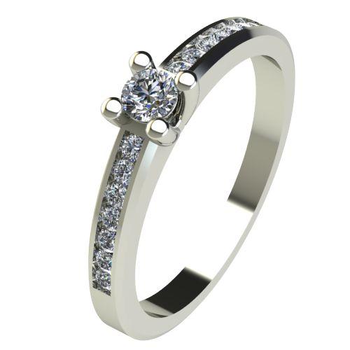 Годежен Пръстен бяло злато с диамант Decor 0,26 ct. 2640