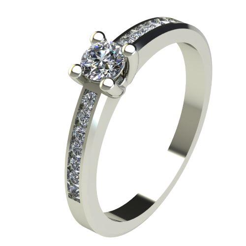 Годежен Пръстен бяло злато с диамант Decor 0,31 ct. 2639