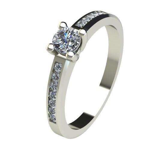 Годежен Пръстен бяло злато с диамант Decor 0,39 ct. 2641