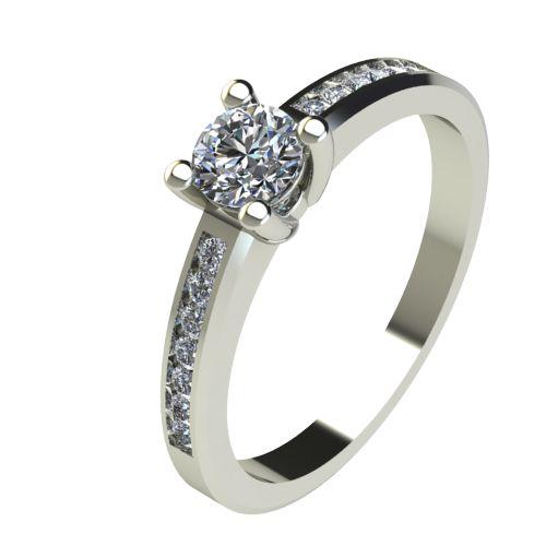 Годежен Пръстен бяло злато с диамант Decor 0,50 ct. 2642