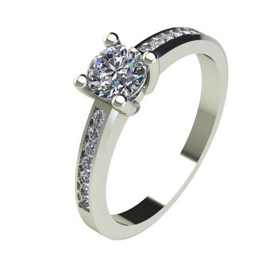 Годежен Пръстен бяло злато с диамант Decor 0,71 ct. 2643