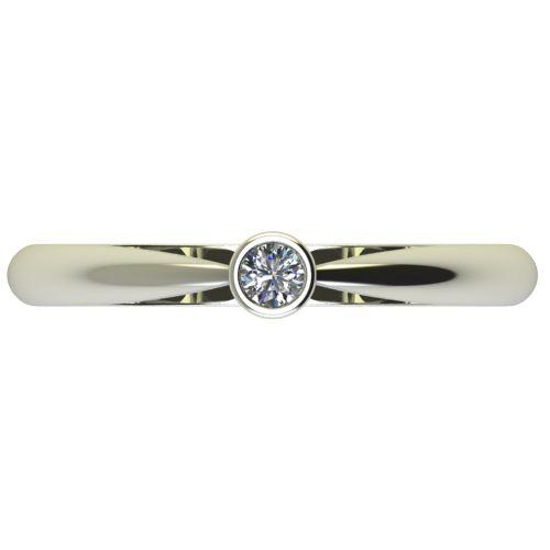 Годежен Пръстен бяло злато с диамант Moon 0,04 ct. 2634 a