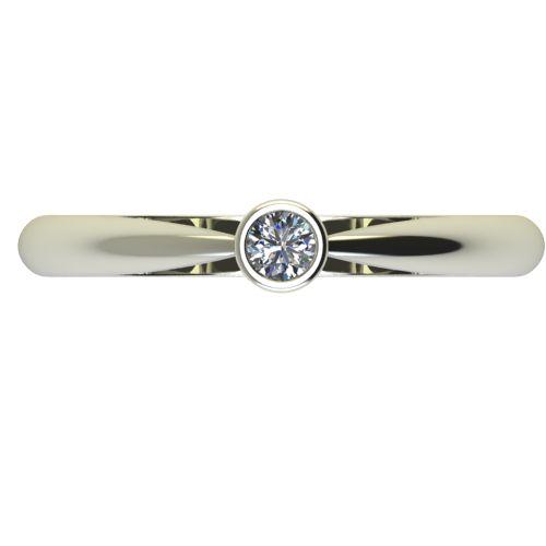 Годежен Пръстен бяло злато с диамант Moon 0,07 ct. 2635 a