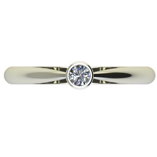 Годежен Пръстен бяло злато с диамант Moon 0,12 ct. 2636 a