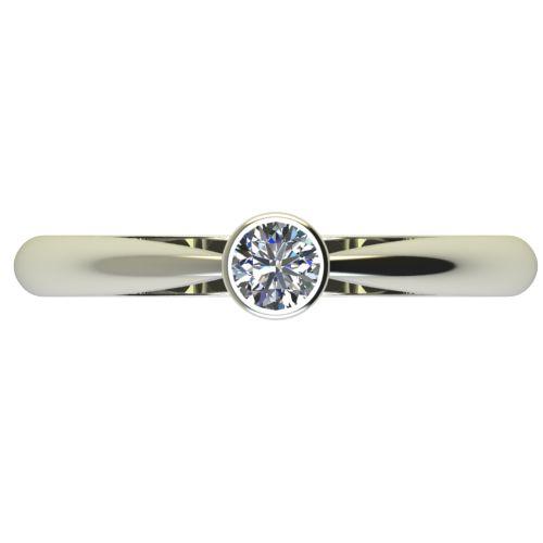 Годежен Пръстен бяло злато с диамант Moon 0,17 ct. 2637 a