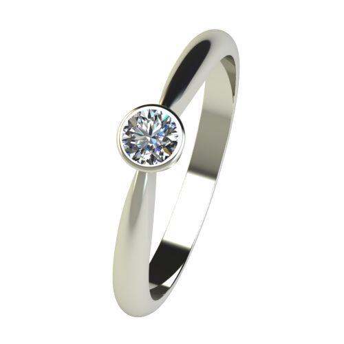 Годежен Пръстен бяло злато с диамант Moon 0,17 ct. 2637