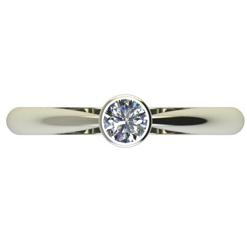 Годежен Пръстен бяло злато с диамант Moon 0,25 ct. 2638 a