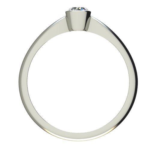 Годежен Пръстен бяло злато с диамант Moon 0,25 ct. 2638 b