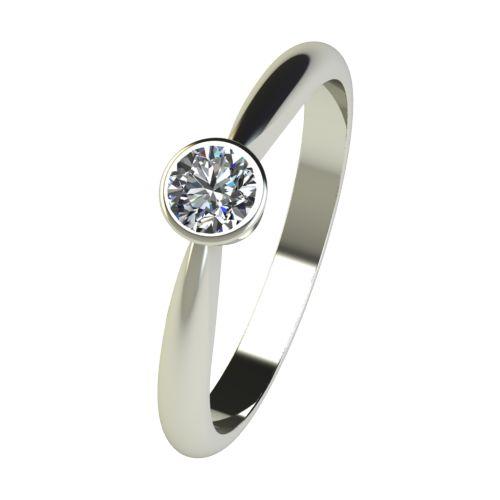 Годежен Пръстен бяло злато с диамант Moon 0,25 ct. 2638