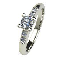 Годежен Пръстен бяло злато с диамант Prest 0,33 ct. 2651