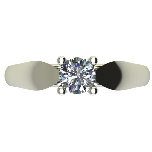 Годежен Пръстен бяло злато с диамант Thin 0,50 ct. 2633 a