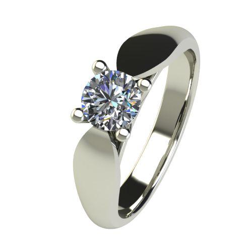 Годежен Пръстен бяло злато с диамант Thin 0,50 ct. 2633