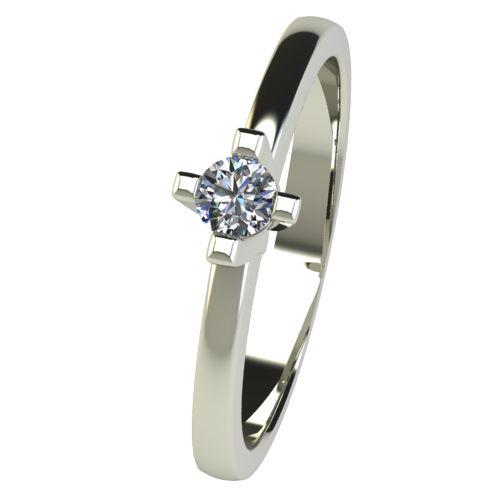 Годежен Пръстен бяло злато с диамант Cante 0,12 ct. 2670