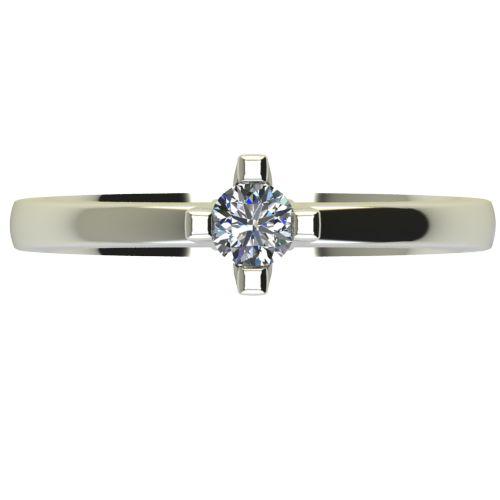 Годежен Пръстен бяло злато с диамант Cante 0,17 ct. 2671 a