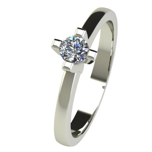 Годежен Пръстен бяло злато с диамант Cante 0,17 ct. 2671