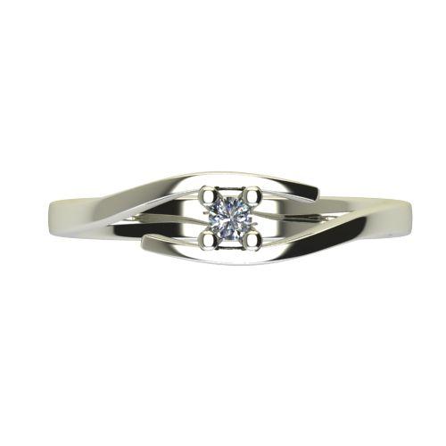 Годежен Пръстен бяло злато с диамант Close 0,04 ct. 2665 a
