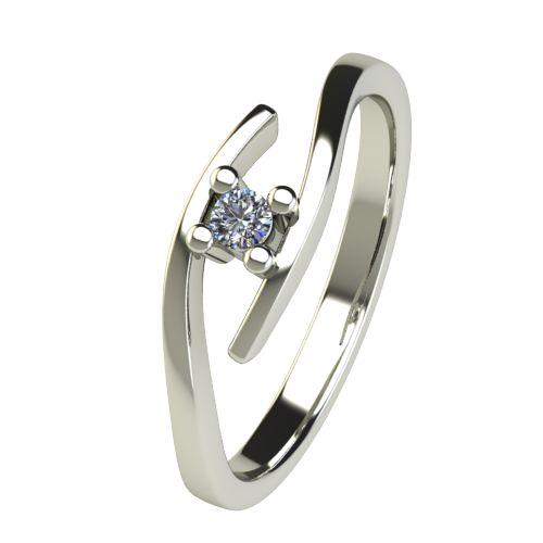 Годежен Пръстен бяло злато с диамант Close 0,04 ct. 2665