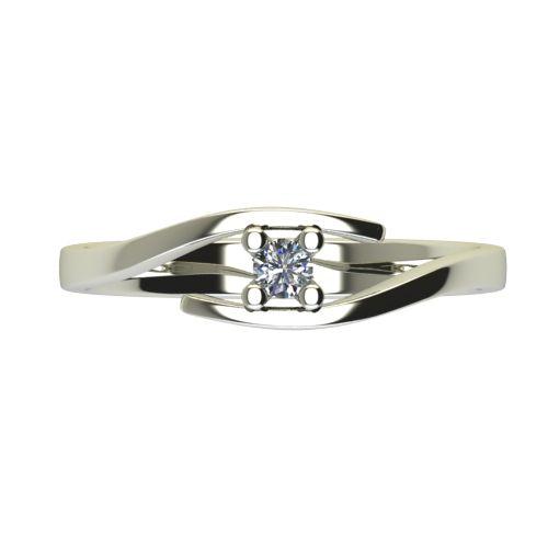 Годежен Пръстен бяло злато с диамант Close 0,07 ct. 2666 a