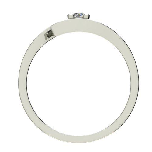 Годежен Пръстен бяло злато с диамант Close 0,07 ct. 2666 b
