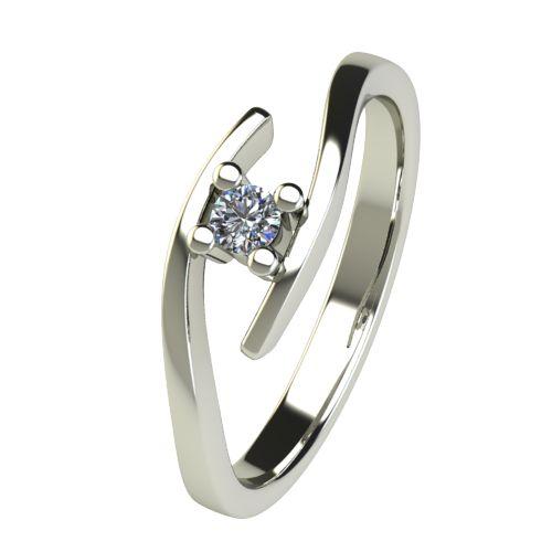 Годежен Пръстен бяло злато с диамант Close 0,07 ct. 2666