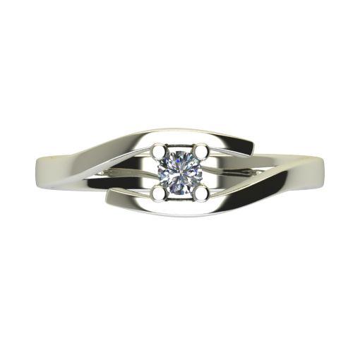 Годежен Пръстен бяло злато с диамант Close 0,12 ct. 2667 a