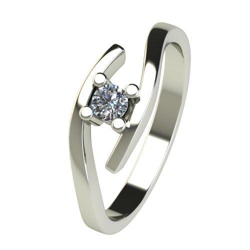 Годежен Пръстен бяло злато с диамант Close 0,12 ct. 2667