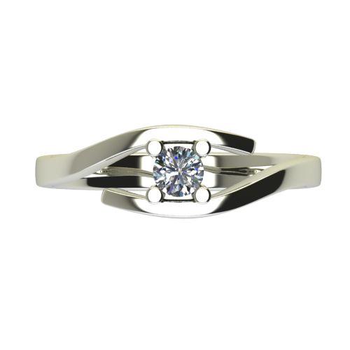 Годежен Пръстен бяло злато с диамант Close 0,17 ct. 2668 a
