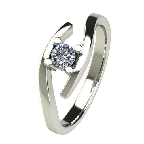 Годежен Пръстен бяло злато с диамант Close 0,17 ct. 2668