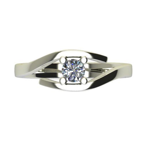 Годежен Пръстен бяло злато с диамант Close 0,25 ct. 2669 a