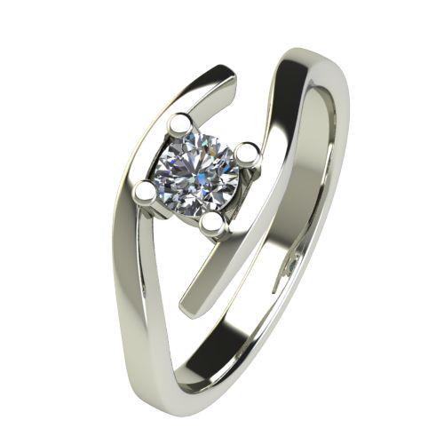 Годежен Пръстен бяло злато с диамант Close 0,25 ct. 2669