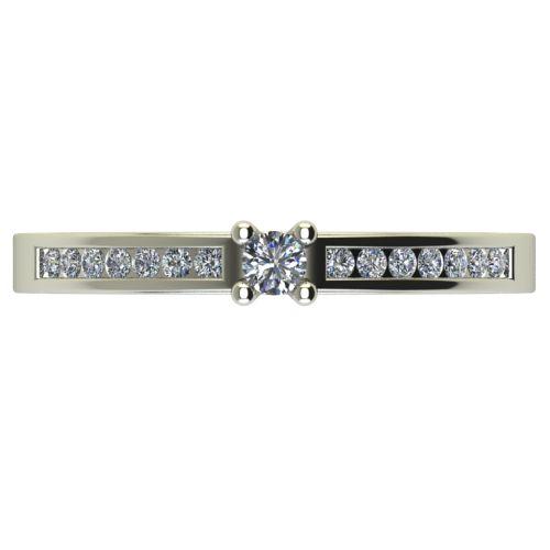 Годежен Пръстен бяло злато с диамант Decor 0,25 ct. 2657 a