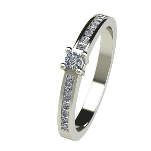 Годежен Пръстен бяло злато с диамант Decor 0,25 ct. 2657