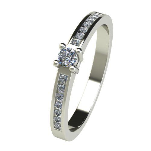 Годежен Пръстен бяло злато с диамант Decor 0,28 ct. 2658